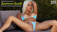 "Spencer Scott ""Turquoise Polka-dot Thong"" HD strip video"