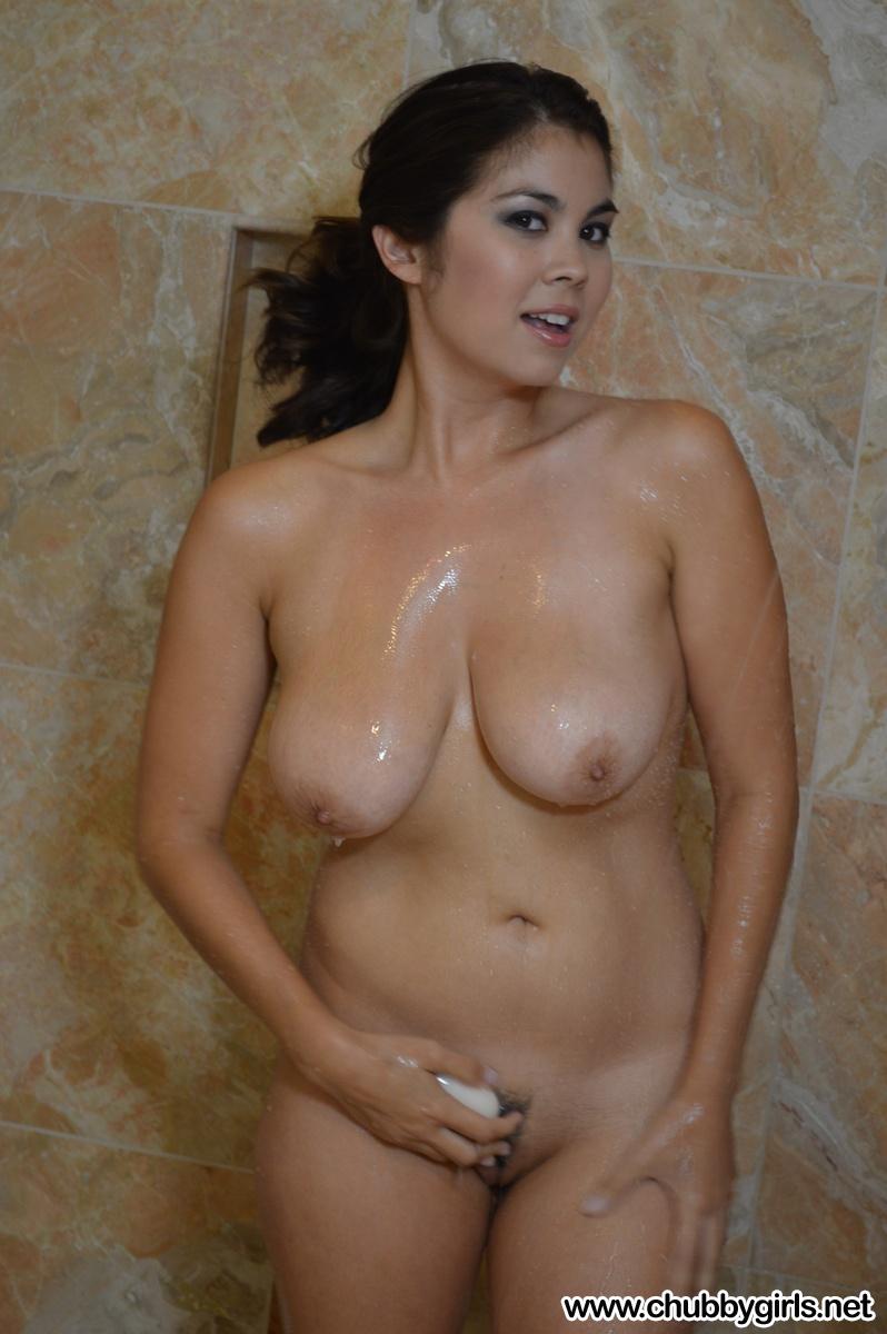 Fat young girls shower